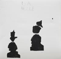 Öl auf Papier, 59,5x59cm